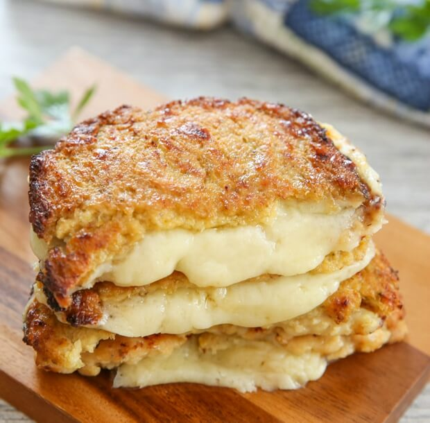 Cauliflower-Crusted Grilled Cheese Sandwiches