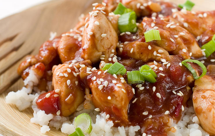 Slow Cooker Sweet Chili Sesame Chicken