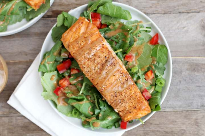 Salmon kale salad recipe - Dr. Axe