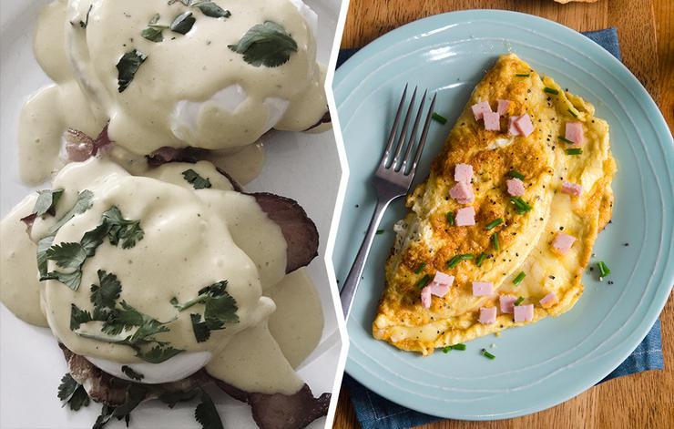 omelet eggs benedict