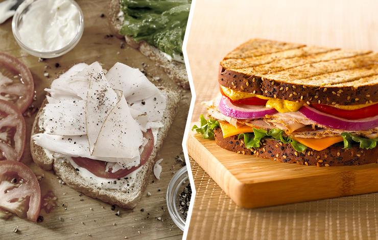 turkey sandwich mustard mayo