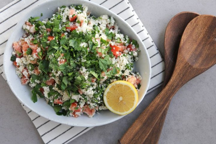 Cauliflower tabbouleh recipe - Dr. Axe