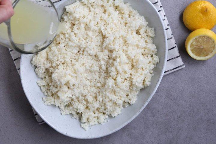 Cauliflower tabbouleh step 1 - Dr. Axe