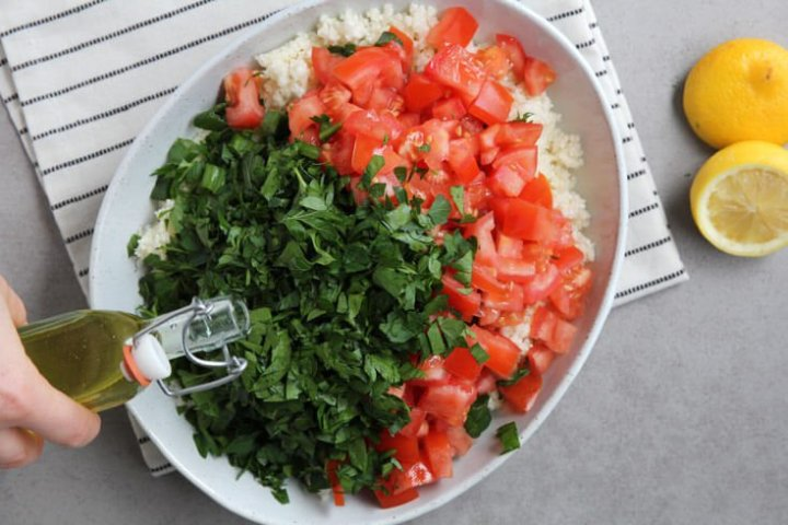 Cauliflower tabbouleh step 2 - Dr. Axe