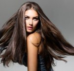 Healthy Long Hair, Brunette Woman