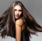 Healthy Long Hair, Brunette Woman