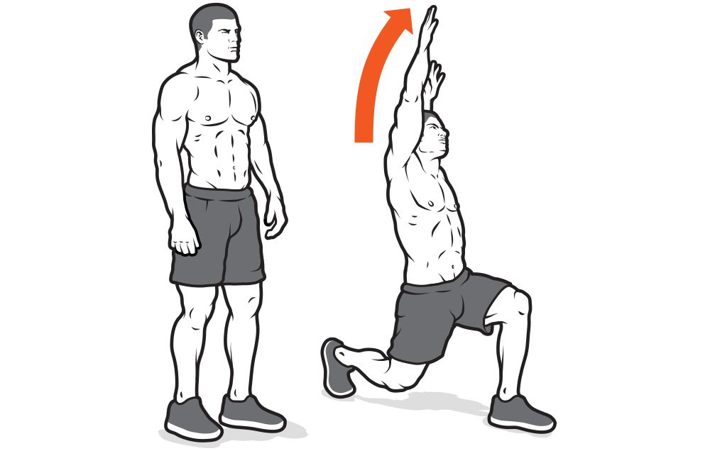 Reverse lunge with reachback